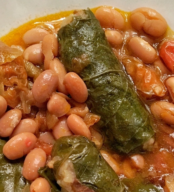 Jewish White Bean Stew: Two Meals In One Pot